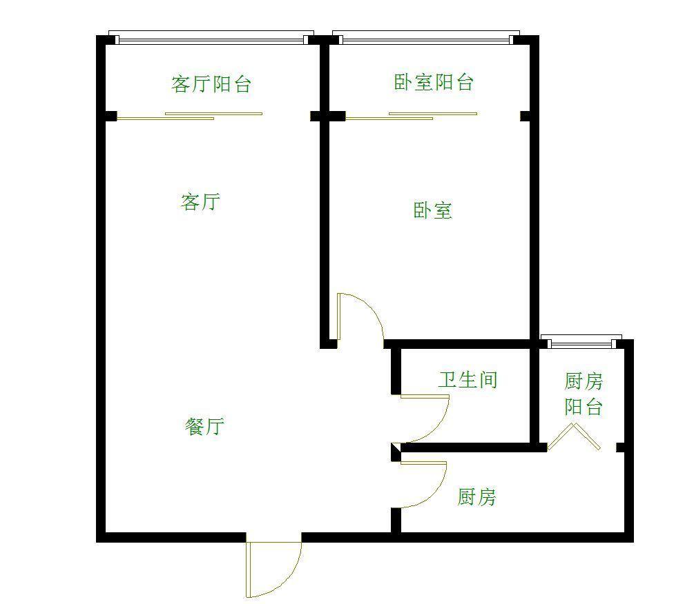 凤凰路迎宾路交叉口吉阳区怡景湾一室两厅可改正规两房一厅诚售