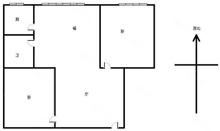 二医院对面装修两室楼层低,家具家电配套