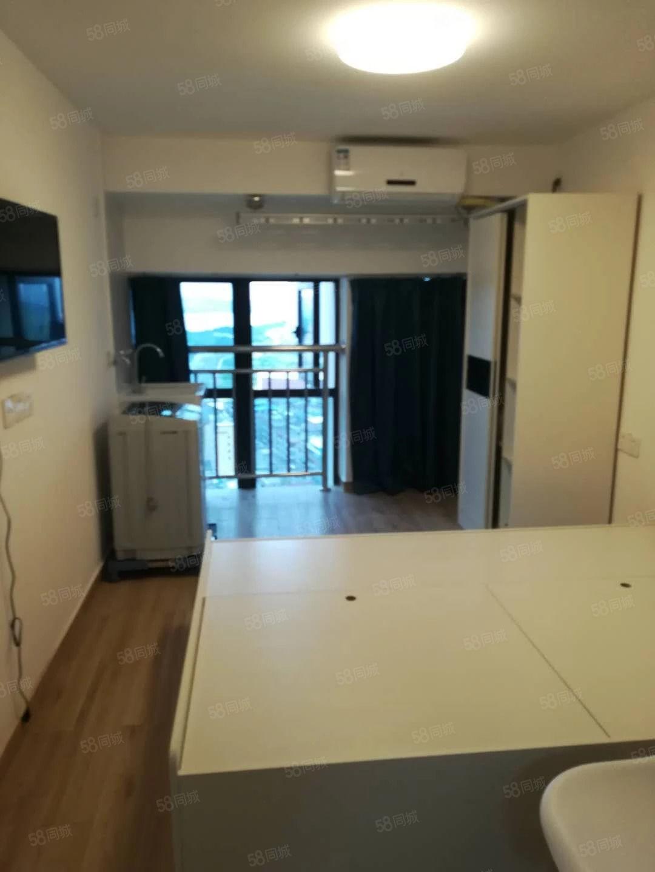 万达旁爱特公馆新社区精装单身公寓设备齐全首次出租