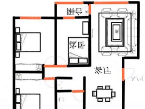 赵村小区3室2厅南北通透户型搜美好储藏室可分期