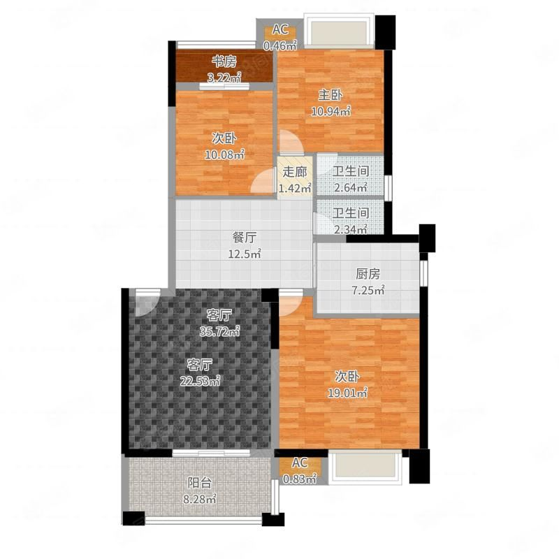 超值万达华城D区精装大四房出租一个月只需3800