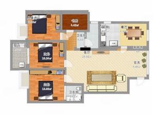 不限购南北岸醉便宜神房单价1万出头四个房间三个大阳台电梯高层