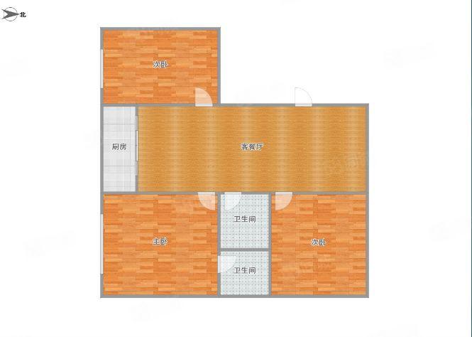 凯旋帝景旁三室两卫,三楼,可半年起租,拎包入住
