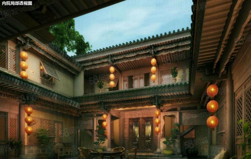 广龙小镇700平独栋客栈,5室5厅5卫,北京四合院样式,三层