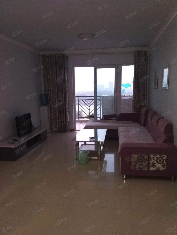 河东中铁龙城套二江景房大阳台卧室客厅带空调