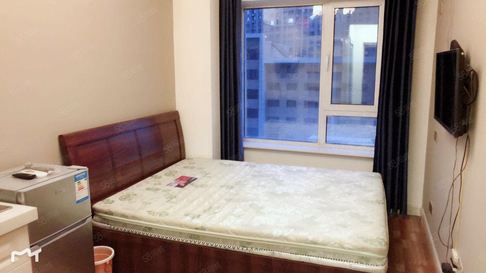 铂金时代精装公寓一居室年租月租日租温馨干净