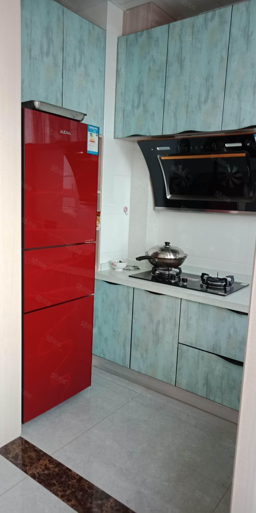 田森汇一室一厅,小公寓,豪华装修,冰箱
