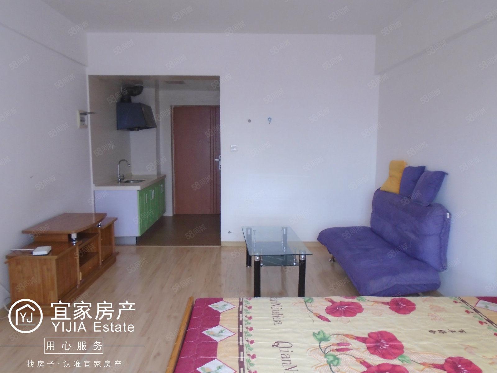 时代广场、1室1厅1厨1卫、精装修单身公寓、带全套家具澳门金沙平台