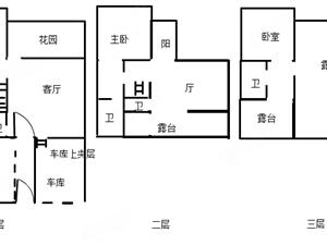 蒙自三中旁高端别墅出租精装修带前后花园2个大露台居家陪读优先