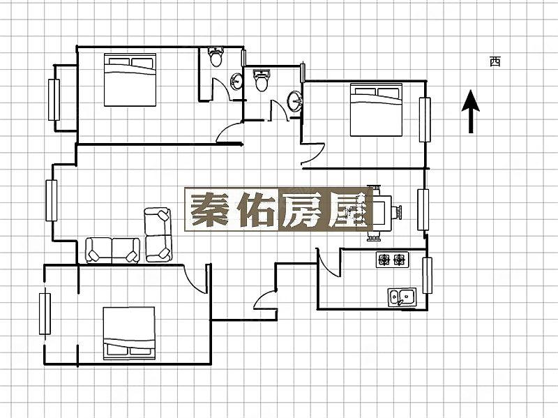 秦都区李斯路怡水花园,精装大三室,即买即住免装修,省时省心