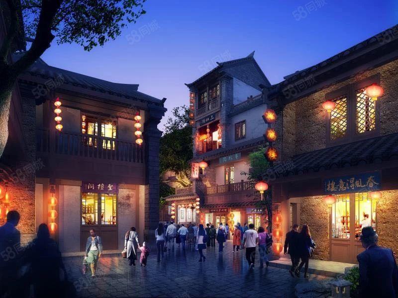 特色古镇青瓦白墙四合院可做茶楼民宿等抚仙湖广龙旅游小镇