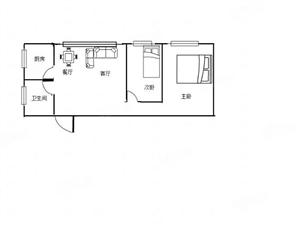 众城国际简约方正的精致空间,二室一厅,仅售18万