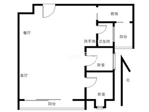 万达中央华城A区2室2厅1卫