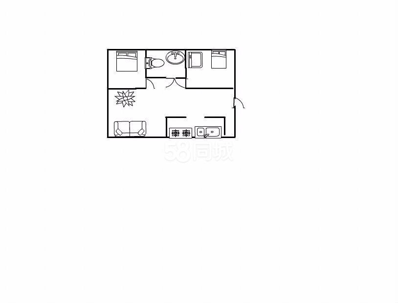 民乐小区2室2厅1卫