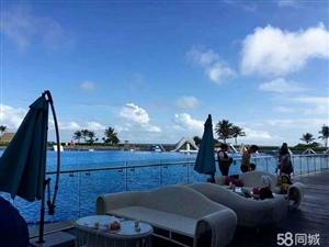 (不限购)碧海蓝天,原生态0污染的沙滩海水,一线海景房!