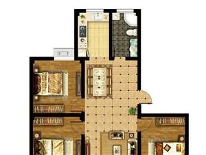 新丰金丰花园3室1厅1卫111平米