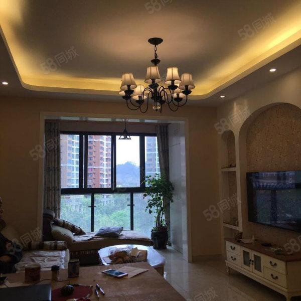翰林府邸精装3房欧式住家装修房东诚售中间楼层中庭