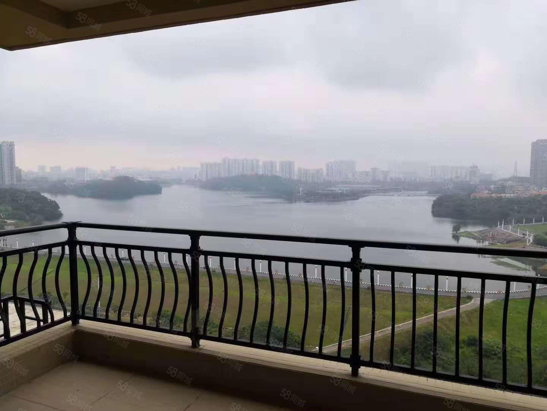 可短租碧桂园钻石湾精装大三房看鸳鸯湖全湖景,可以配齐家私家电