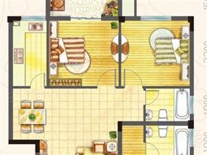阳光美的90平大3房南北通透精装修天利仁和物业