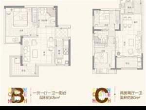 翼特丽景城低首付16万毛坯可改小两房随时过户看房方便