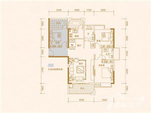 富雅国际稀有产品,109平方赠送26平方,用做大三房