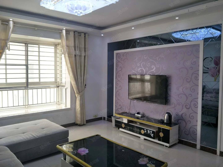 文苑国际订制真皮床如鱼得水的窗帘,精装三室,拎包即住
