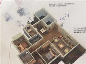 万豪天悦广场,现房,122平,三房,超有价值,单价11300