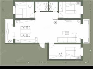 宇泰金月湾5楼138平3000一平三室两厅一卫标准户型
