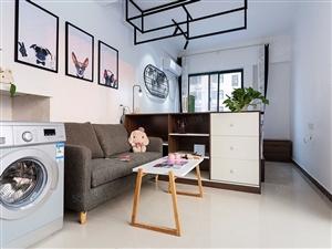 建业魔飞公寓黄河南路华丰一室一厅独卫押一付一限时特价