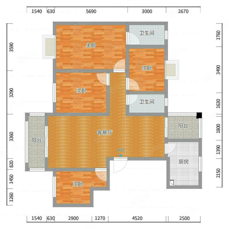 万达熙龙湾精装修家具家电可以配新拎包入住随时看房