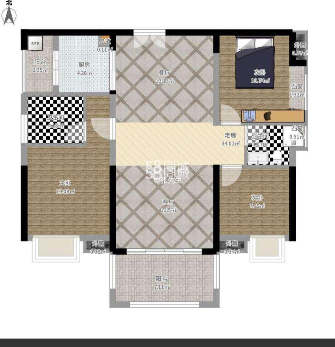 凯旋城3室2厅2卫