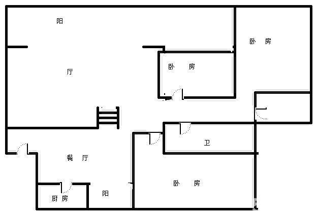 武山县城关镇中心移动公司旁3室2厅1卫急售