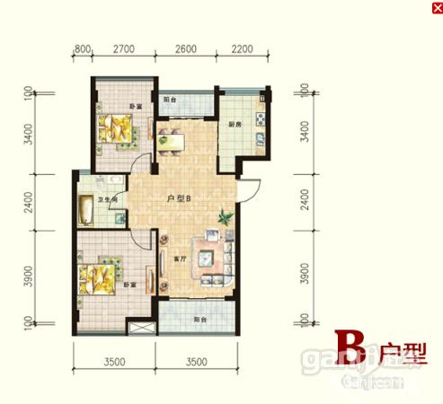 三楼南山世纪花园2室2厅1卫80㎡仅售19万