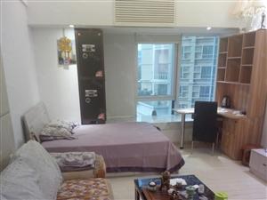 富力丽港豪华装修家具齐全拎包入住支持中介同事代理有中介费。