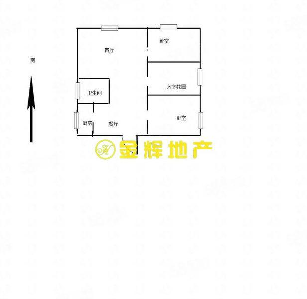 电梯三层。2室开发商另送一10平方入户花园故可改为小三房