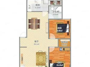 洸河花园3楼2室厅家具家电齐全1200元