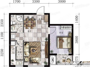 昱海澜湾1室1厅1卫带车位17层18层可以改名35万出售