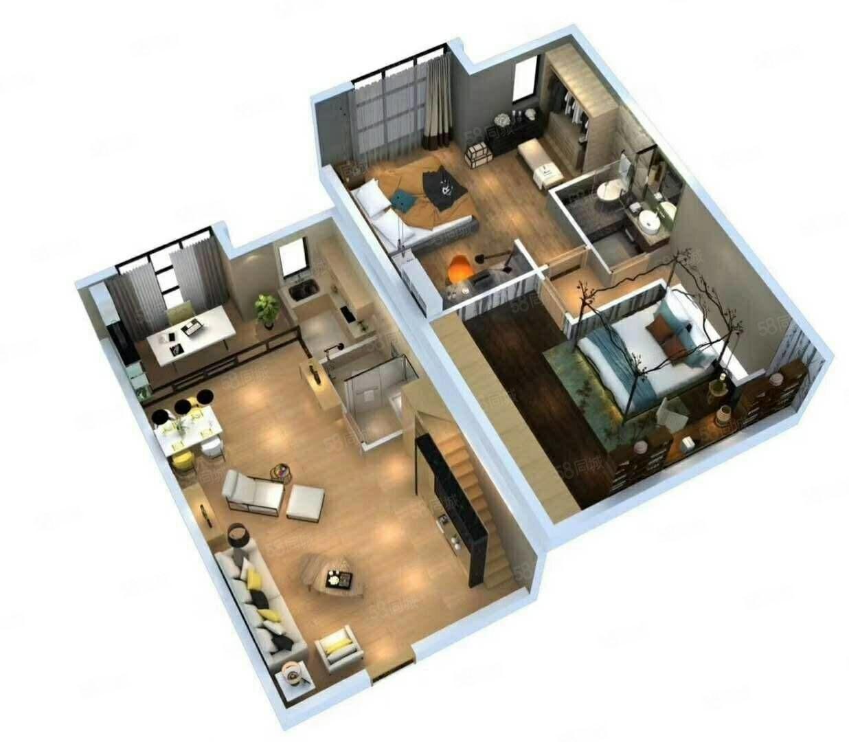 港区地铁口双气五证齐全准现房三万订高档LOFT公寓
