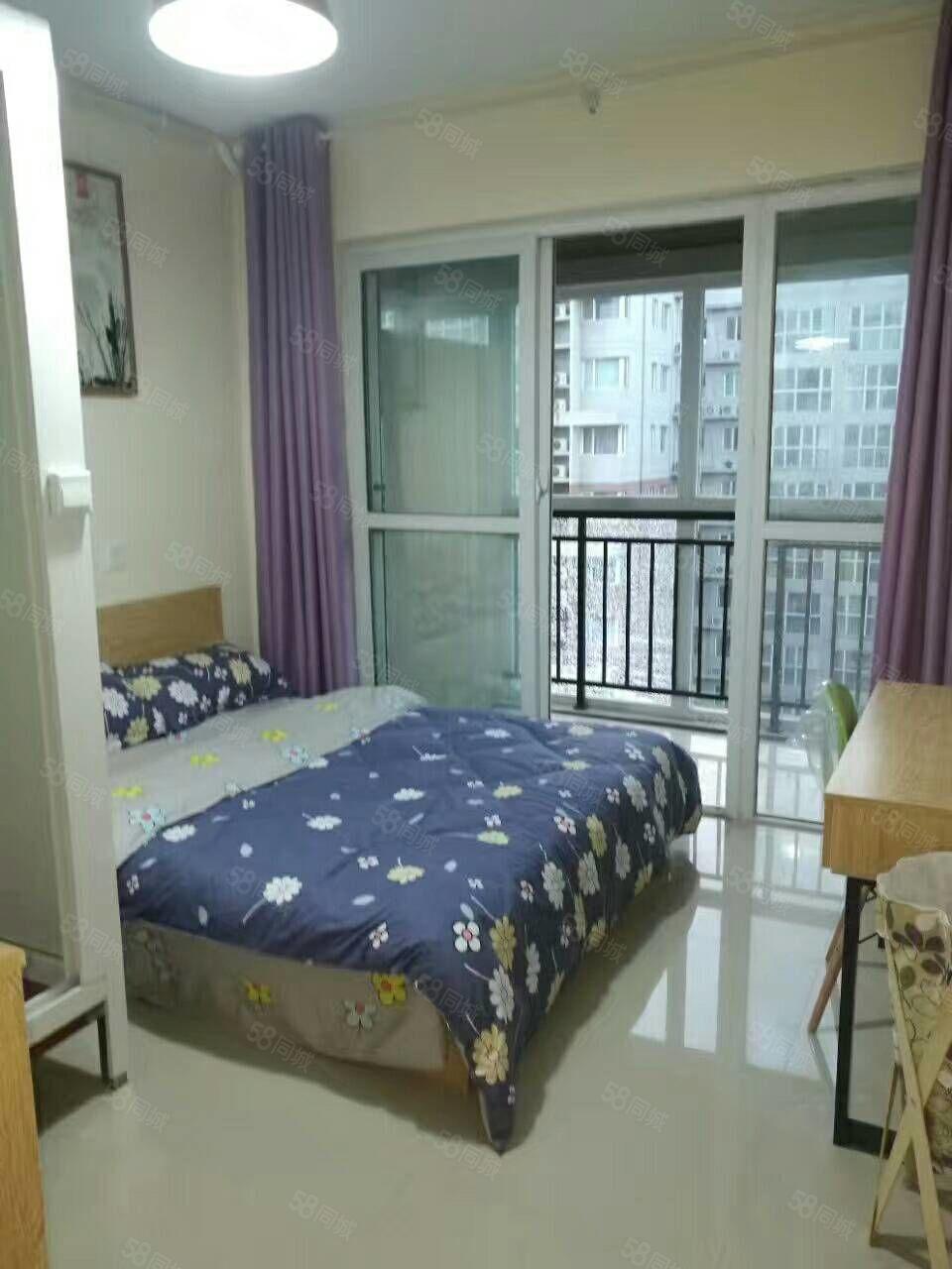 文化路东风路精装公寓家电齐全,新房首租房租月付