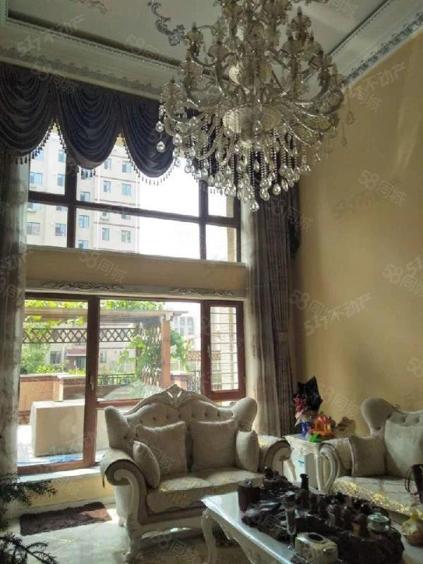 德通秀苑二期越层复式带花园精装修大落地窗三室一厅两