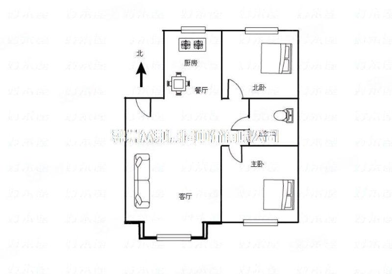(众邦)曼哈顿102平5楼2室2厅威尼斯人娱乐开户乐格局精装修