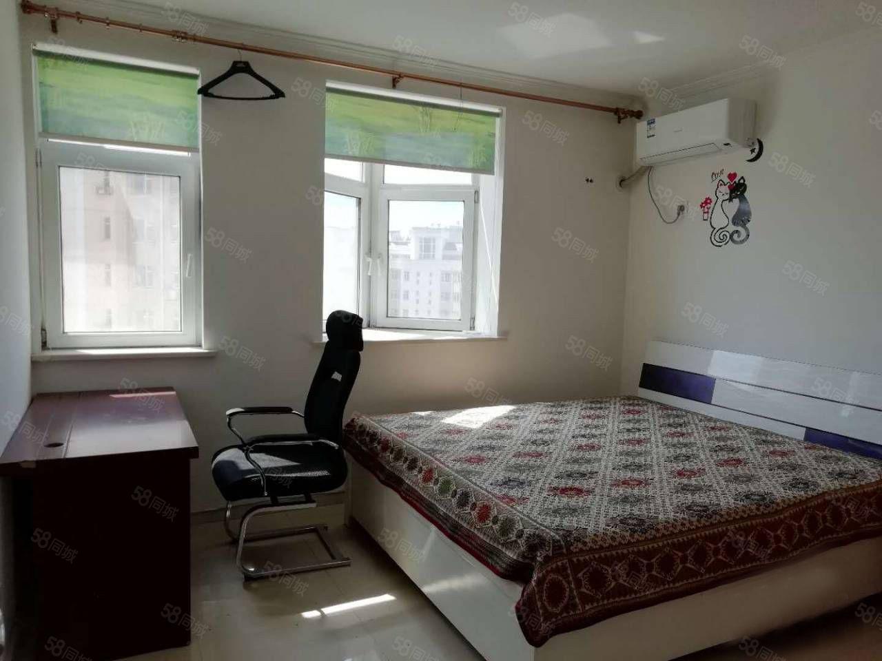兴隆大家庭旁曼哈顿1室年付2万家电齐全不包取暖有空调