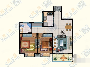 冠鲁明德花园2室2厅基本家具家电齐全,拎包入住,性价比超高