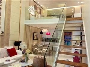 景山学校东侧200米新港国际两居loft准现房一层带一层