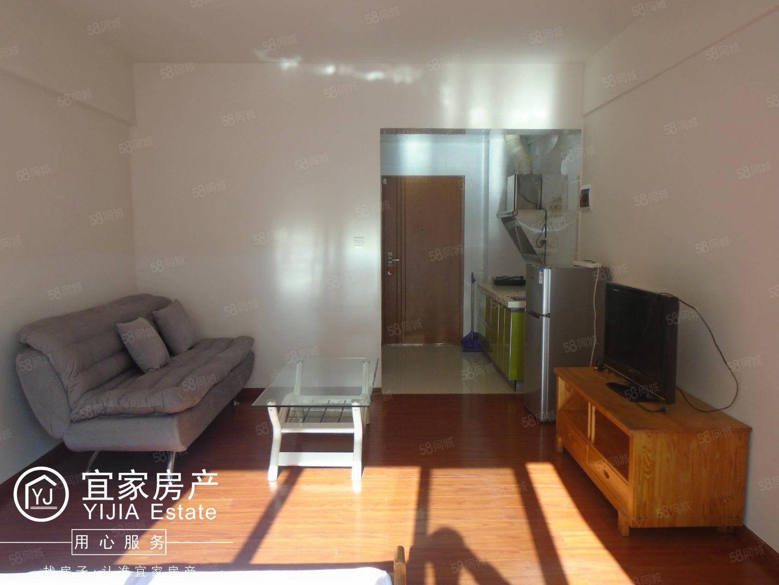 时代广场、单身公寓、1室1厅1厨1卫、精装、带全套家电可做饭