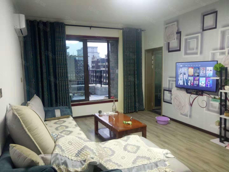港区高档洋房社区精装三房外带14平大露台家具家电齐全