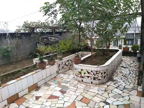 带80平方楼顶花园住家装修温馨二室还可以种种菜和水果树