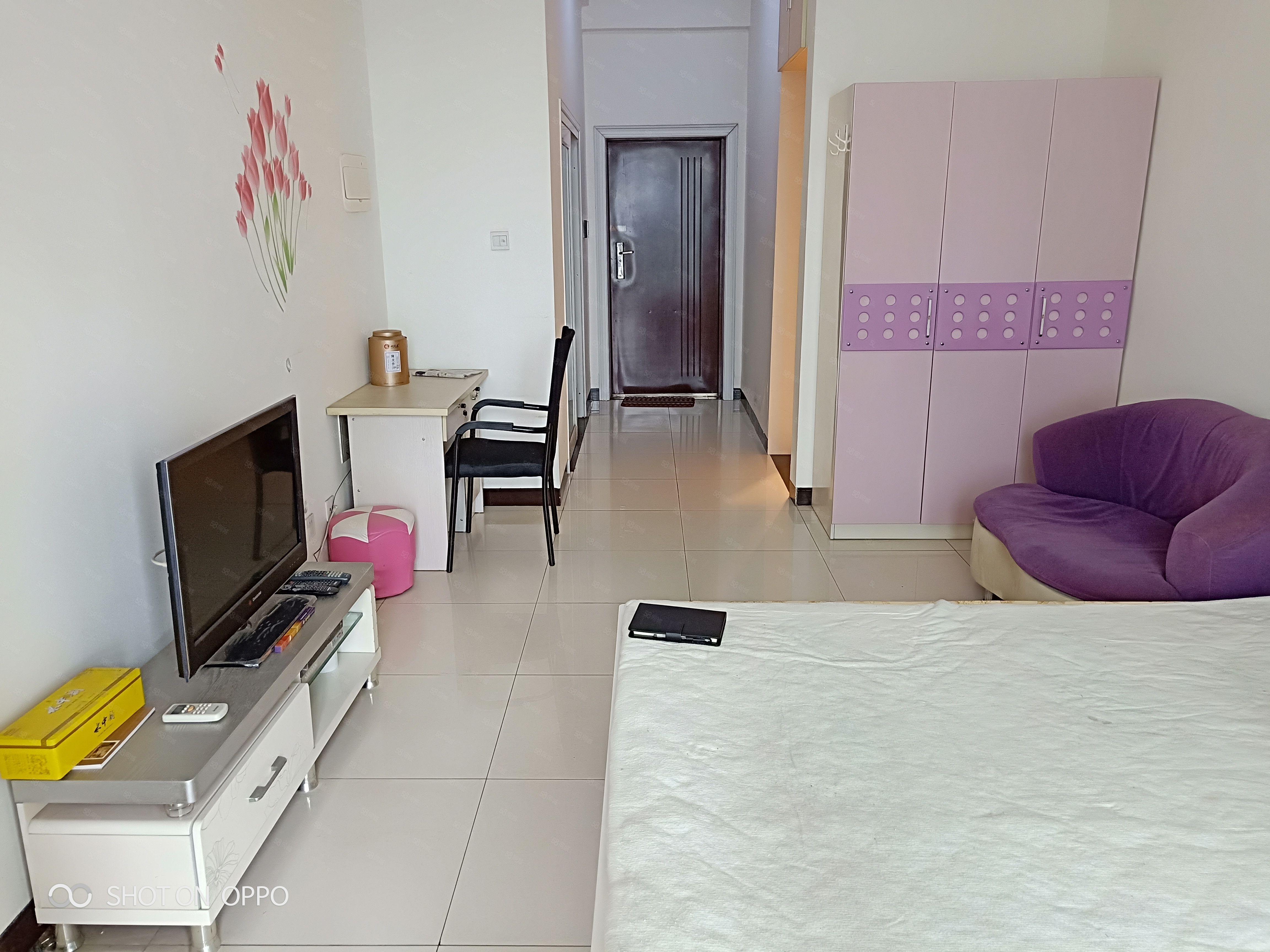 莱茵河畔月光半岛精装修大一室出租家具齐全拎包入住