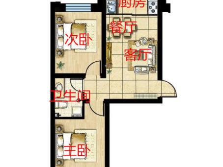 银河D11五楼两室9.8万卖