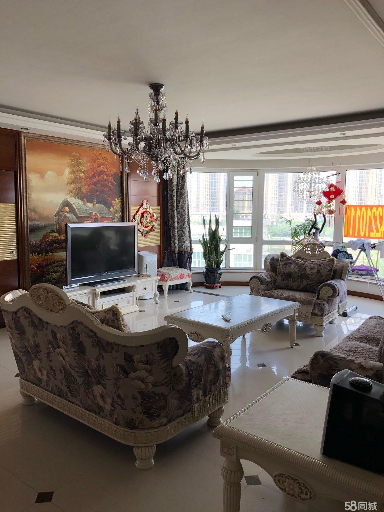 河濱花園樓房出售精裝修,家電齊全,房照滿兩年可以貸款